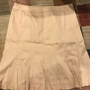 Mustard stretch bell skirt